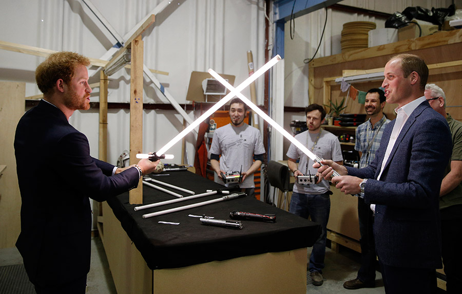 Prince Harry and Prince William Star Wars Set