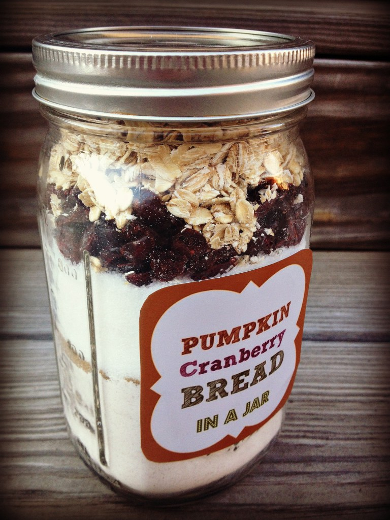 Pumpkin Cranberry Bread in a Jar
