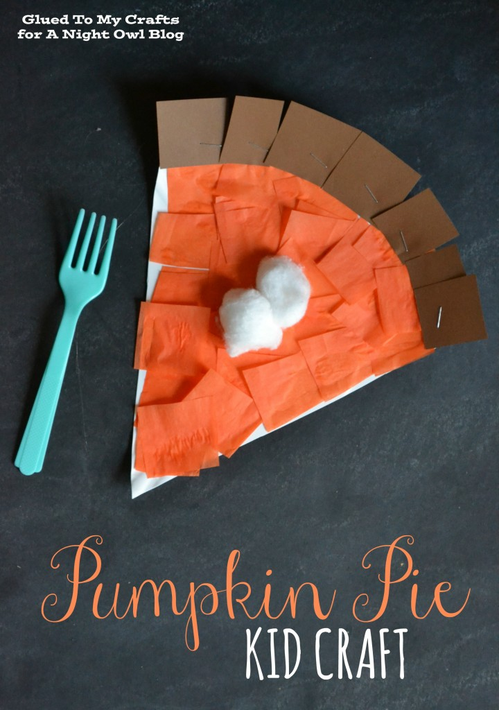 Paper Pumpkin Pie Craft