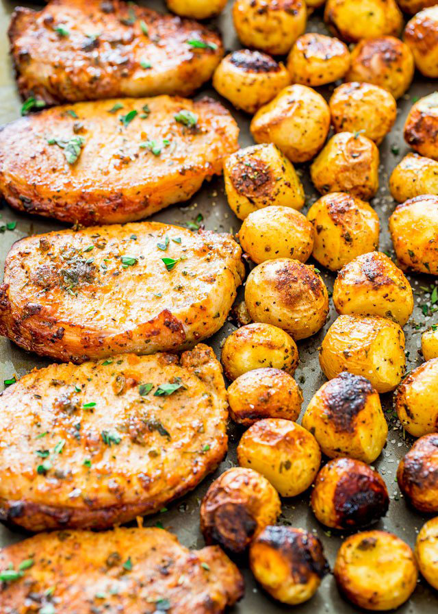 Ranch Pork Chops and Potatoes