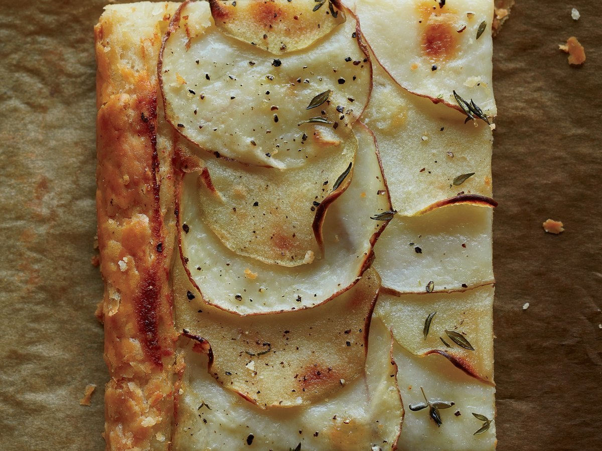 Red Potato and Apple Galette