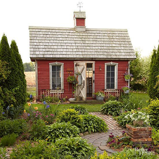 Red School House Garden Shed