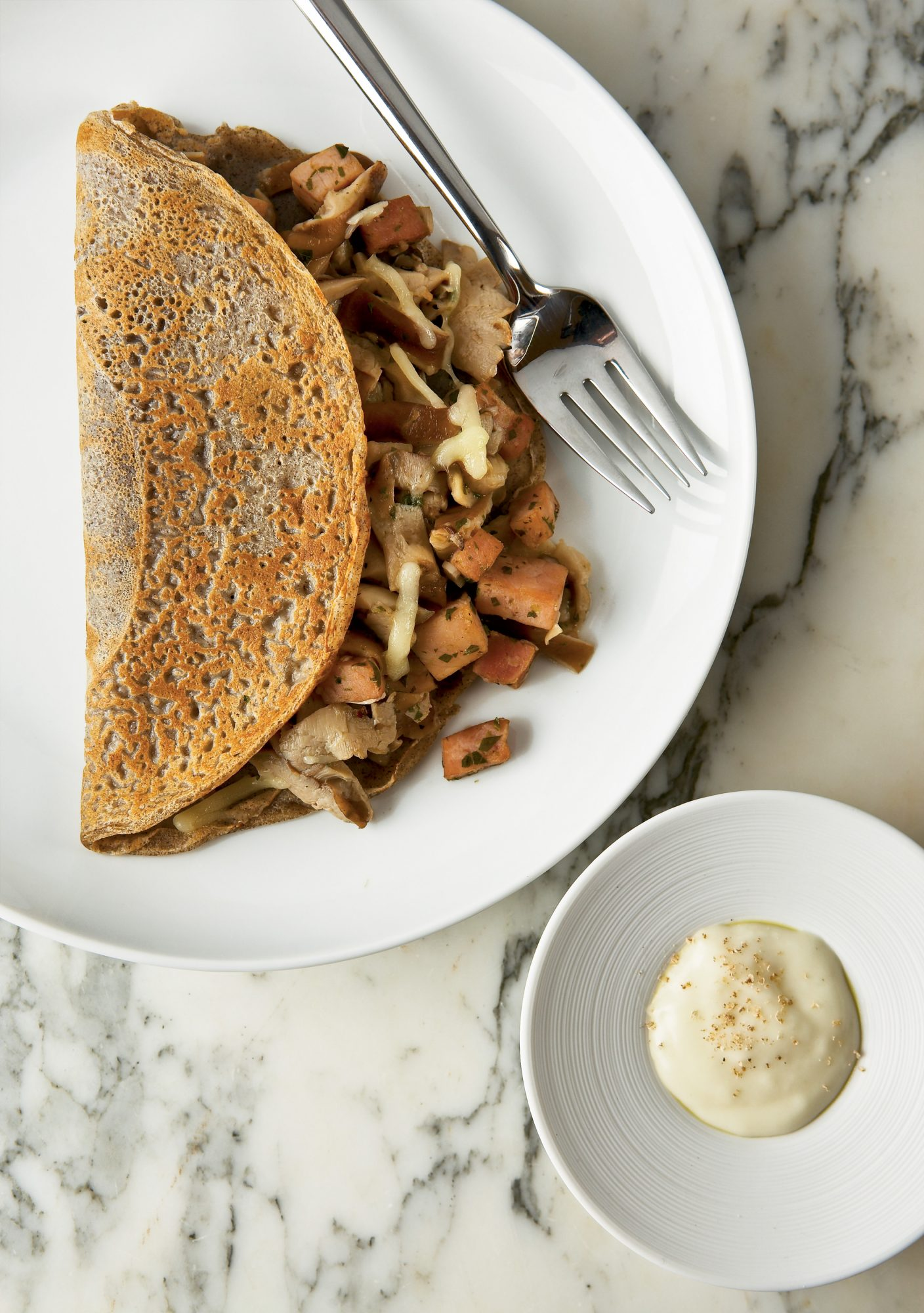 Savory Buckwheat Crepes with Ham and Mornay Sauce Recipes