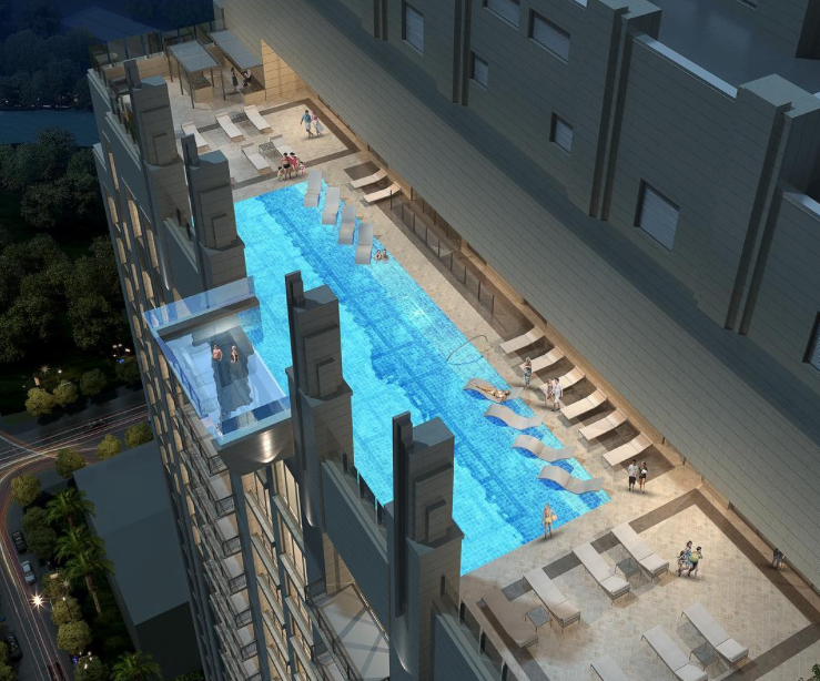 Rooftop Pool at Market Square Tower