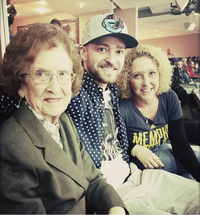 Justin Timberlake with Mom and Grandma