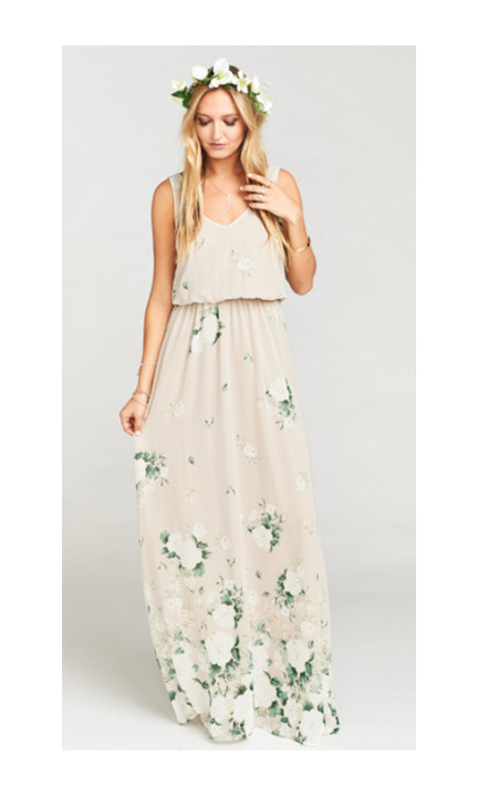 Show Me Your Mumu Kendall Maxi Dress in Bouquet Toss