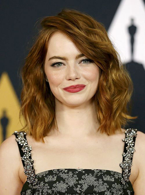 Shoulder-Length with Side-Swept Bangs