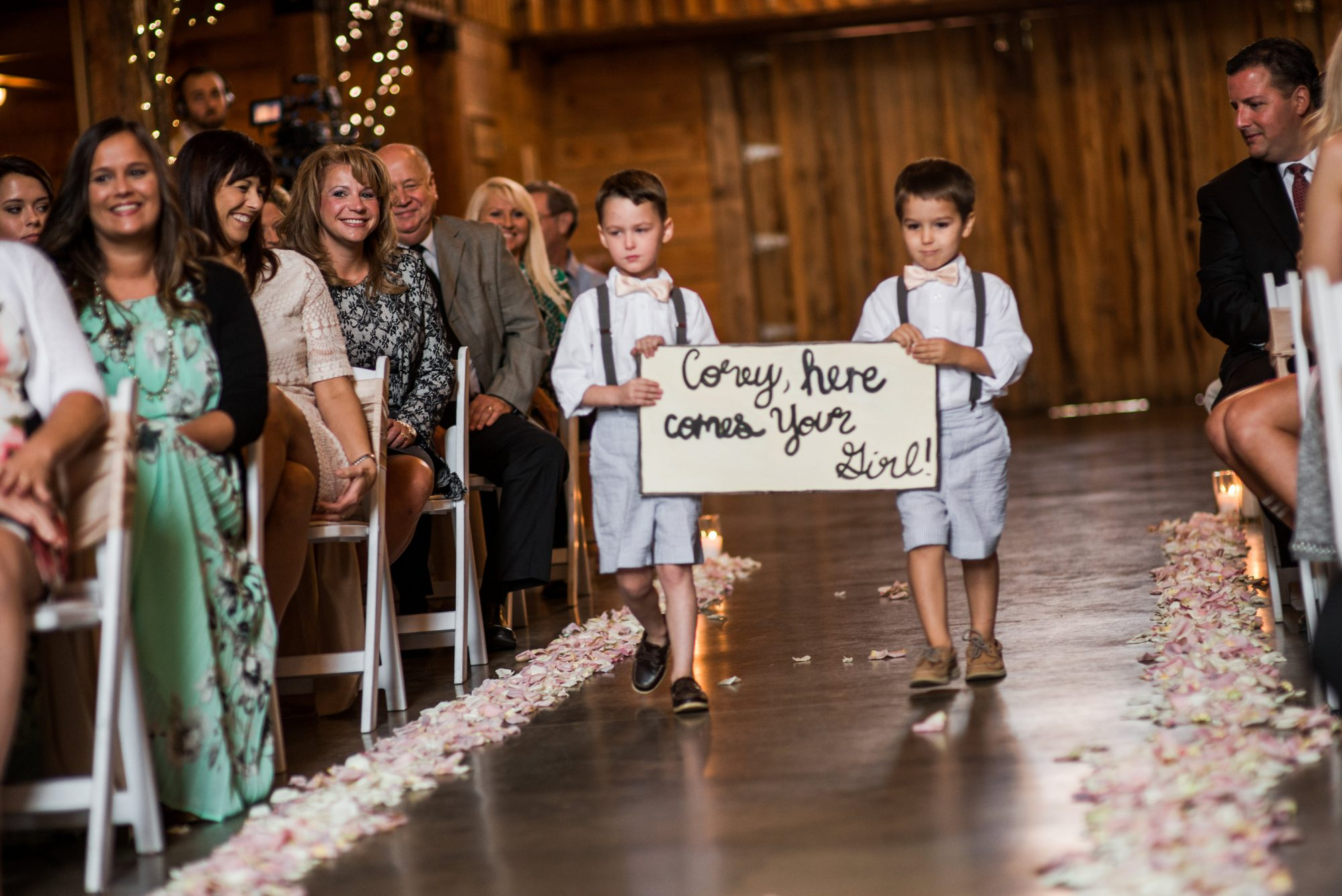 """Barn Ceremony Details """"Here Comes Your Girl"""""""