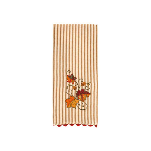 Striped Autumn Kitchen Towel