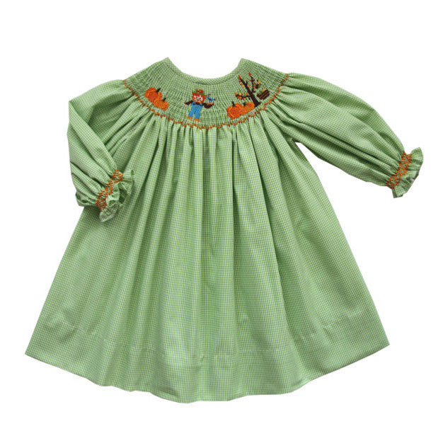 Thanksgiving Hand Smocked Dress