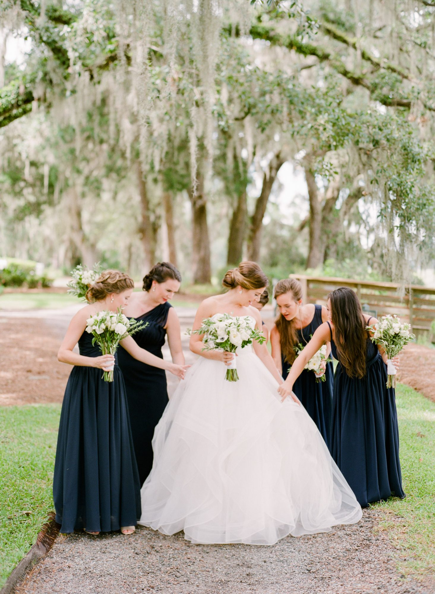 Dark Blue Bridesmaid Gowns