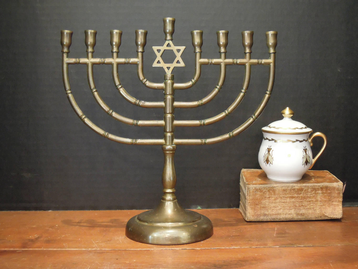 Traditional Brass Menorah