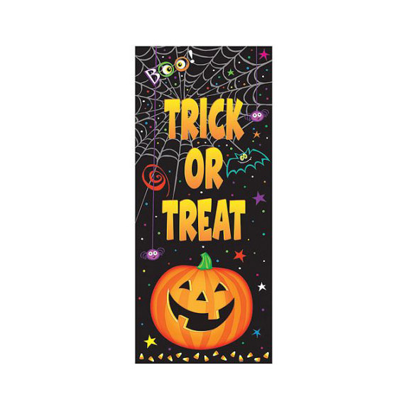 Trick or Treat Door Poster