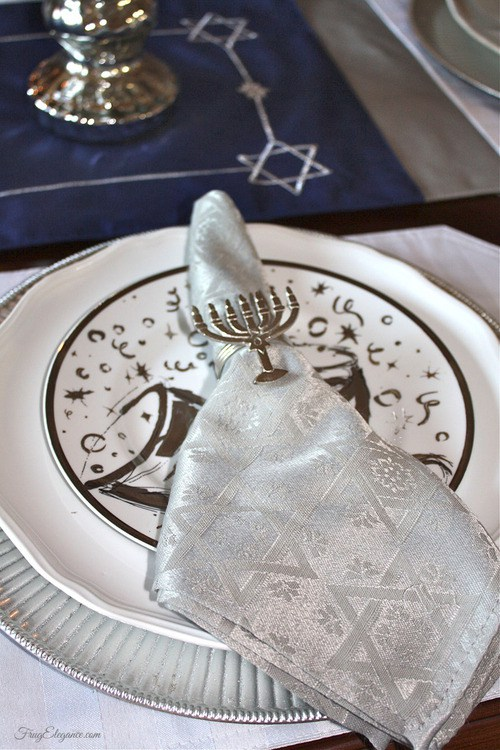 Miniature Menorah Napkin Rings