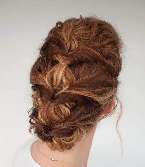 Twisted Bubble Updo