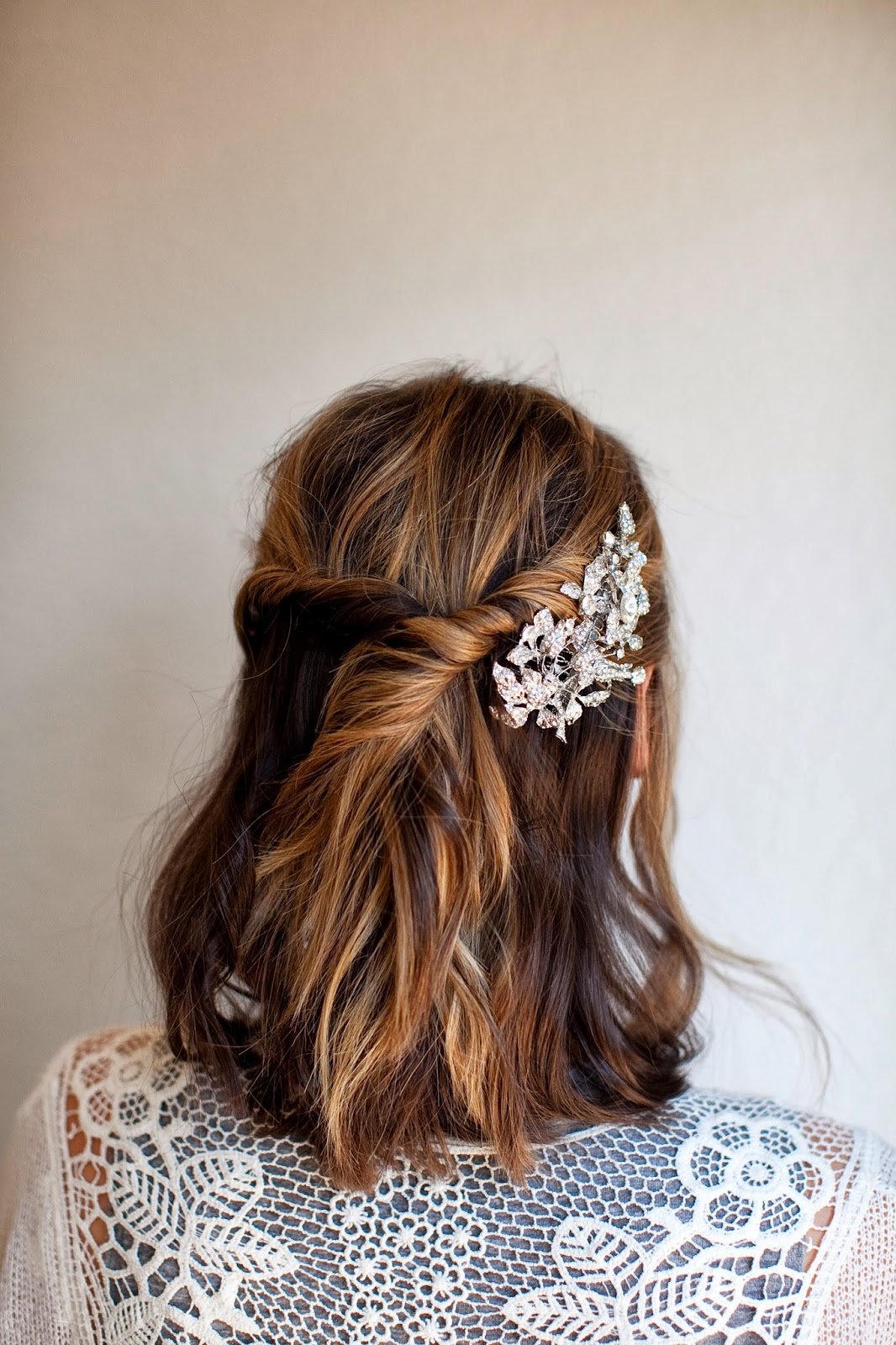 Twisted Half-Up Style