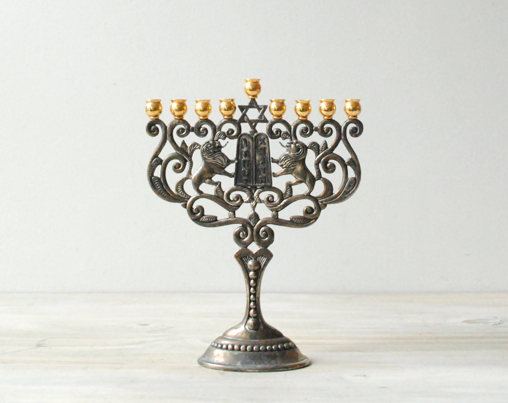 Two-Toned Ornate Menorah