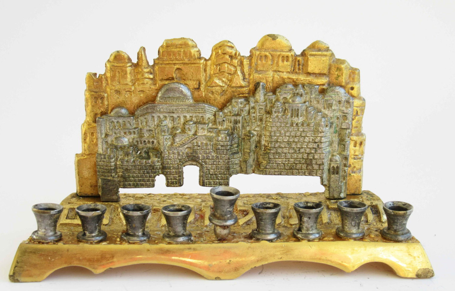 Two-Toned Jerusalem Menorah