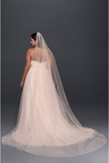 Whisper Pink Cathedral Veil