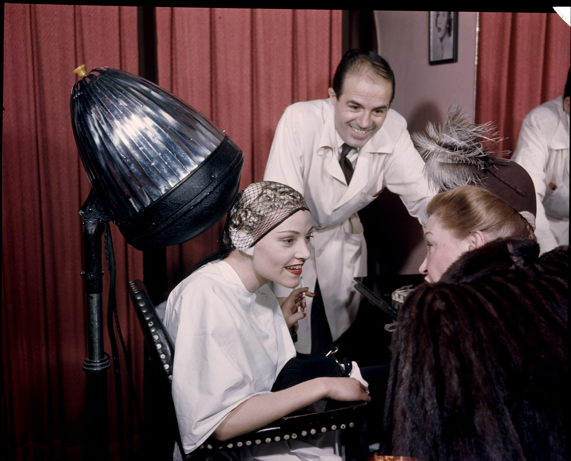 Women Gossiping at the Hair Salon