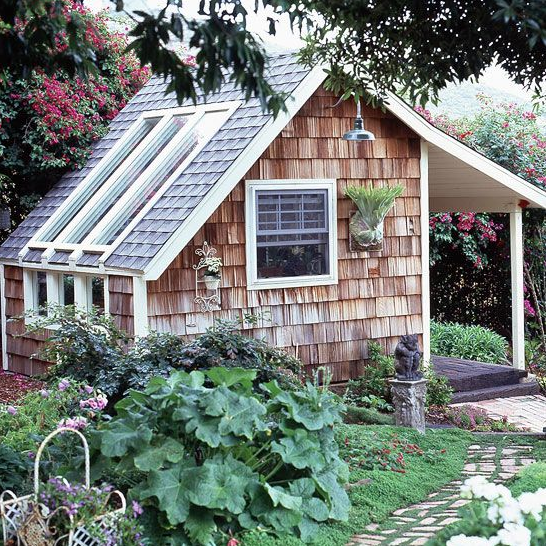 Shingle Garden Shed and Greenhouse