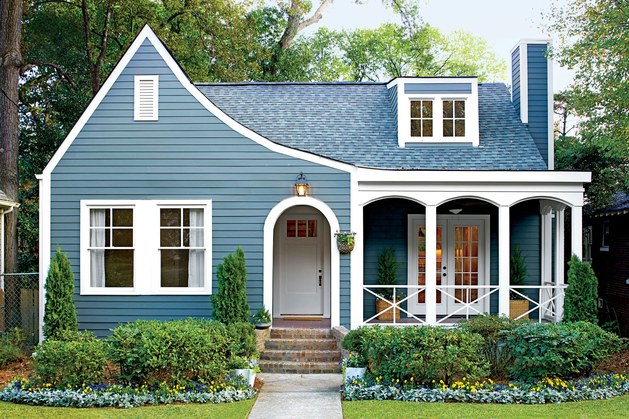 Blue Cottage Curb Appeal