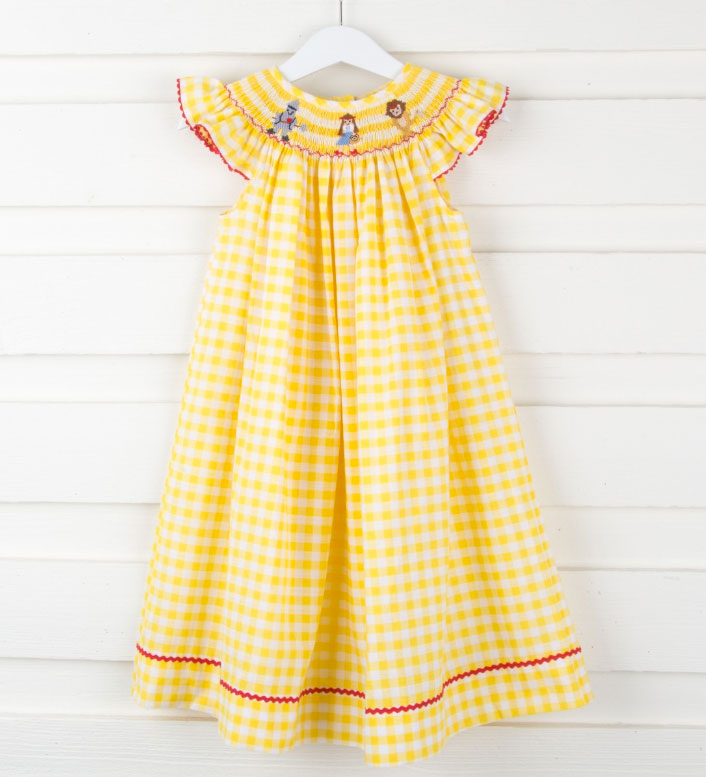 Yellow Brick Road Checked Dress