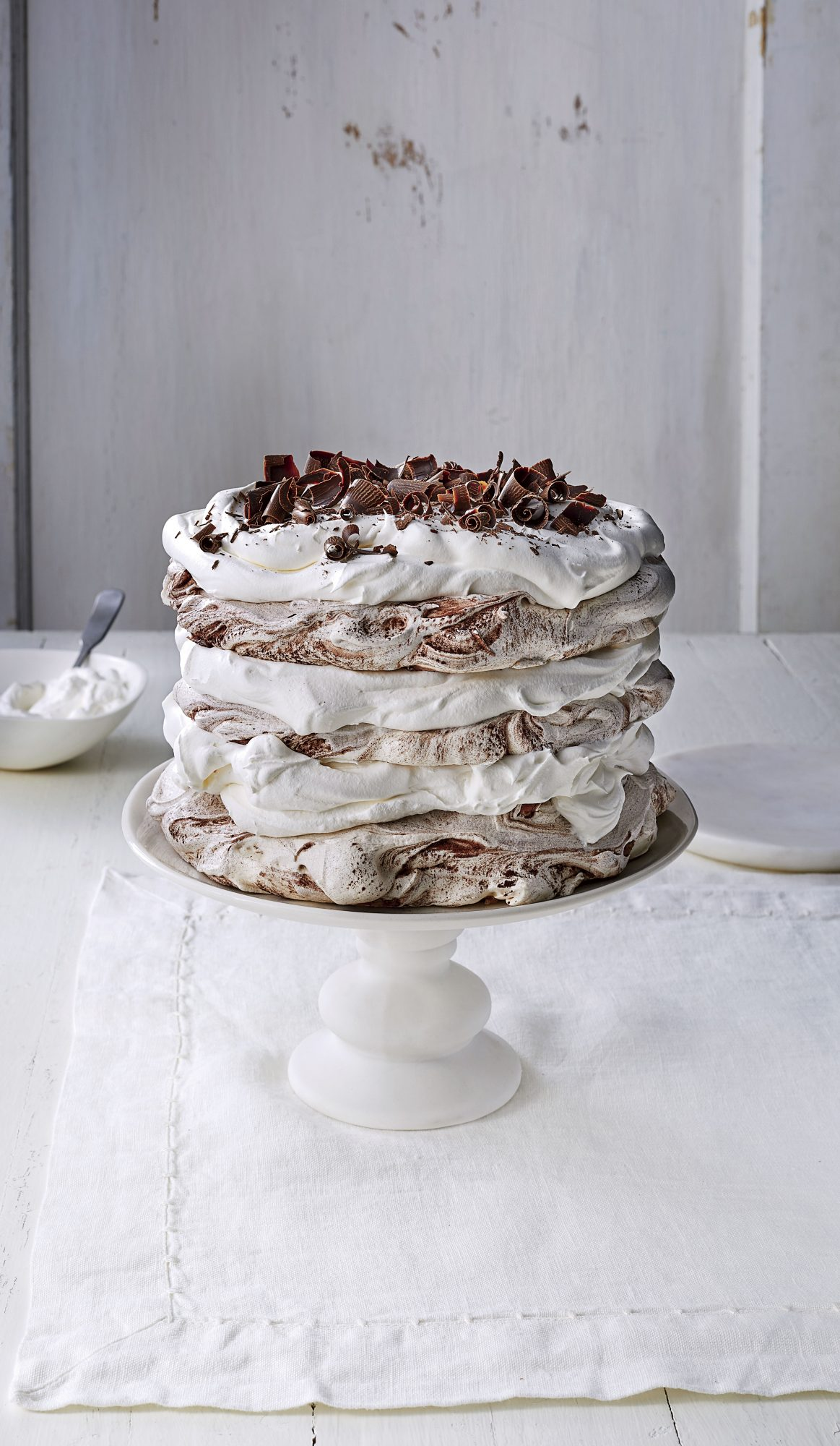 Chocolate-Coconut Pavlova Cake