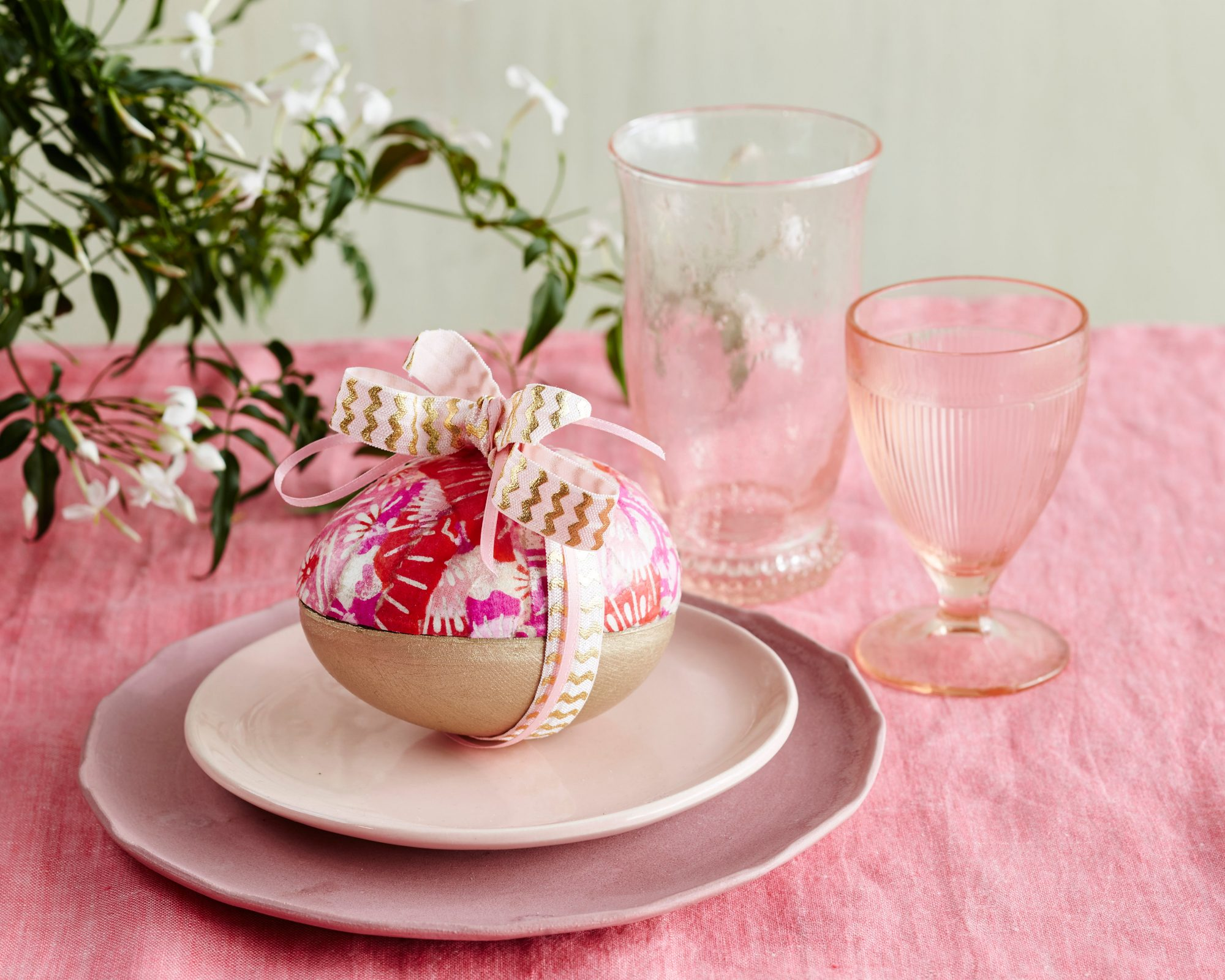 Paper Mache Egg Place Setting