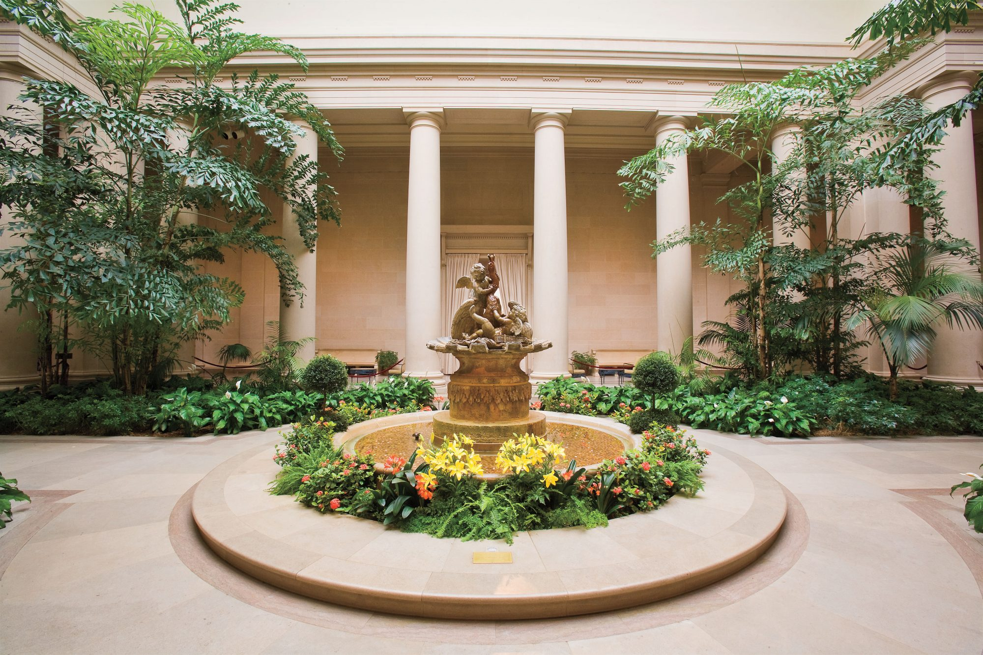 picture of the West Garden Court of the National Gallery of Art