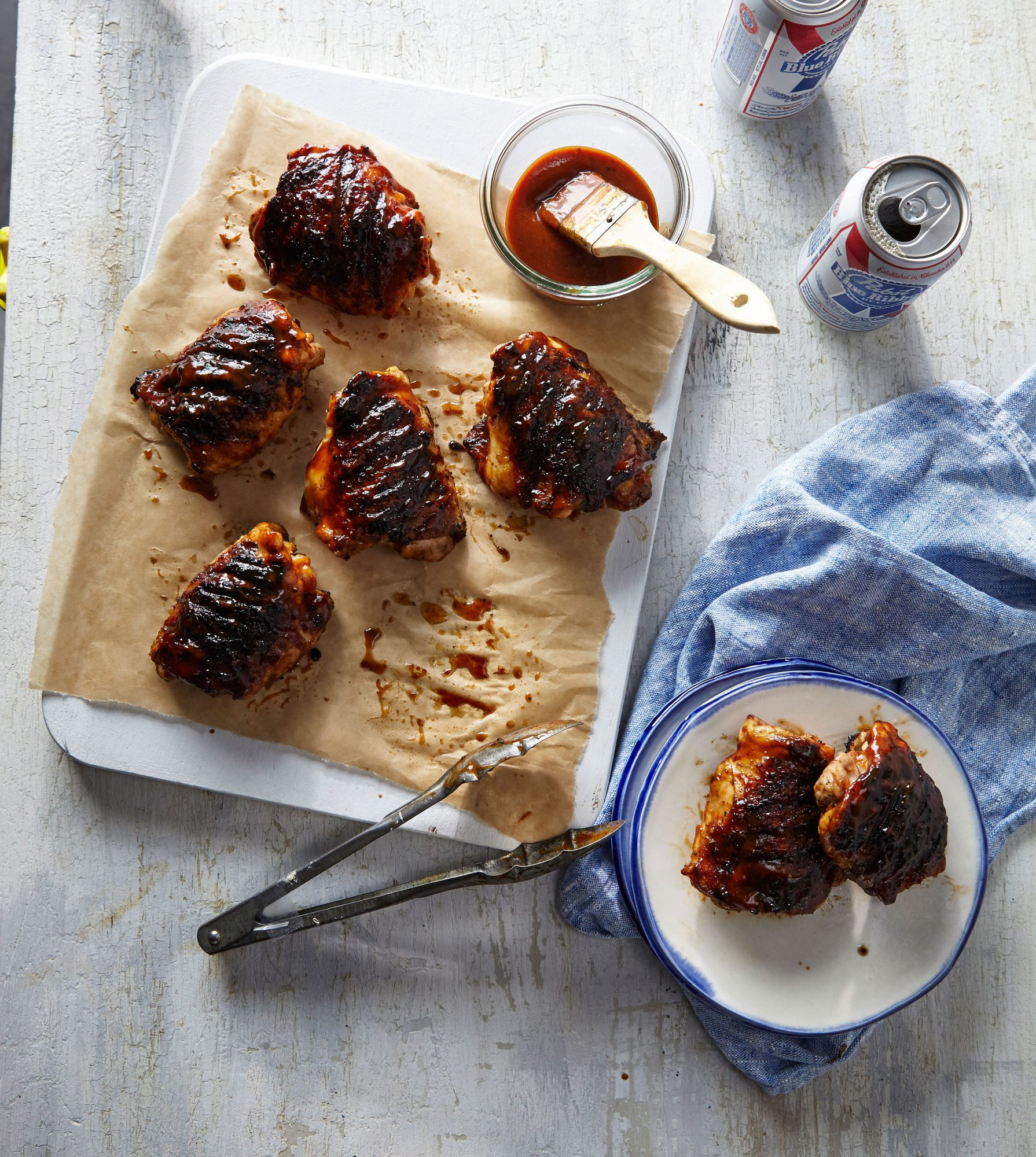 Spiced Molasses BBQ Chicken Thighs