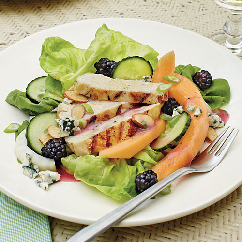 Grilled Chicken Salad with Raspberry-Tarragon Dressing