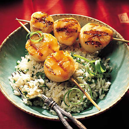 Grilled Sweet-and-Sour Scallops Recipes