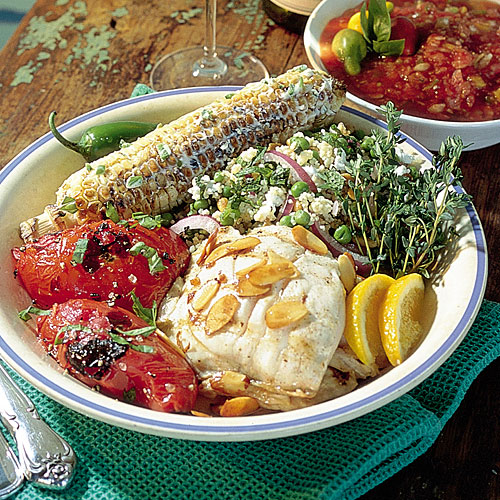 Grilled Snapper with Orange-Almond Sauce Recipes