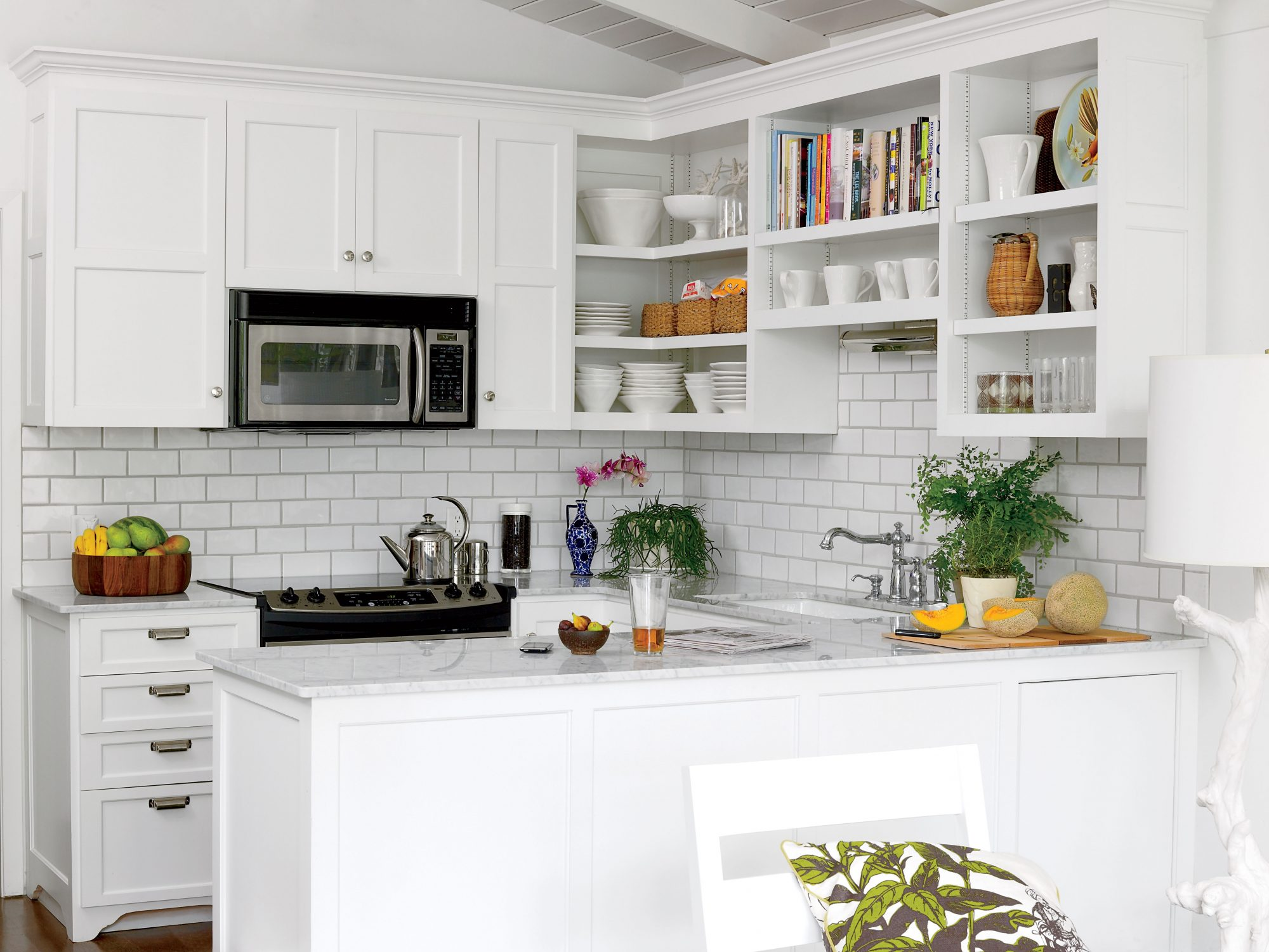 Small White Kitchen Makeover