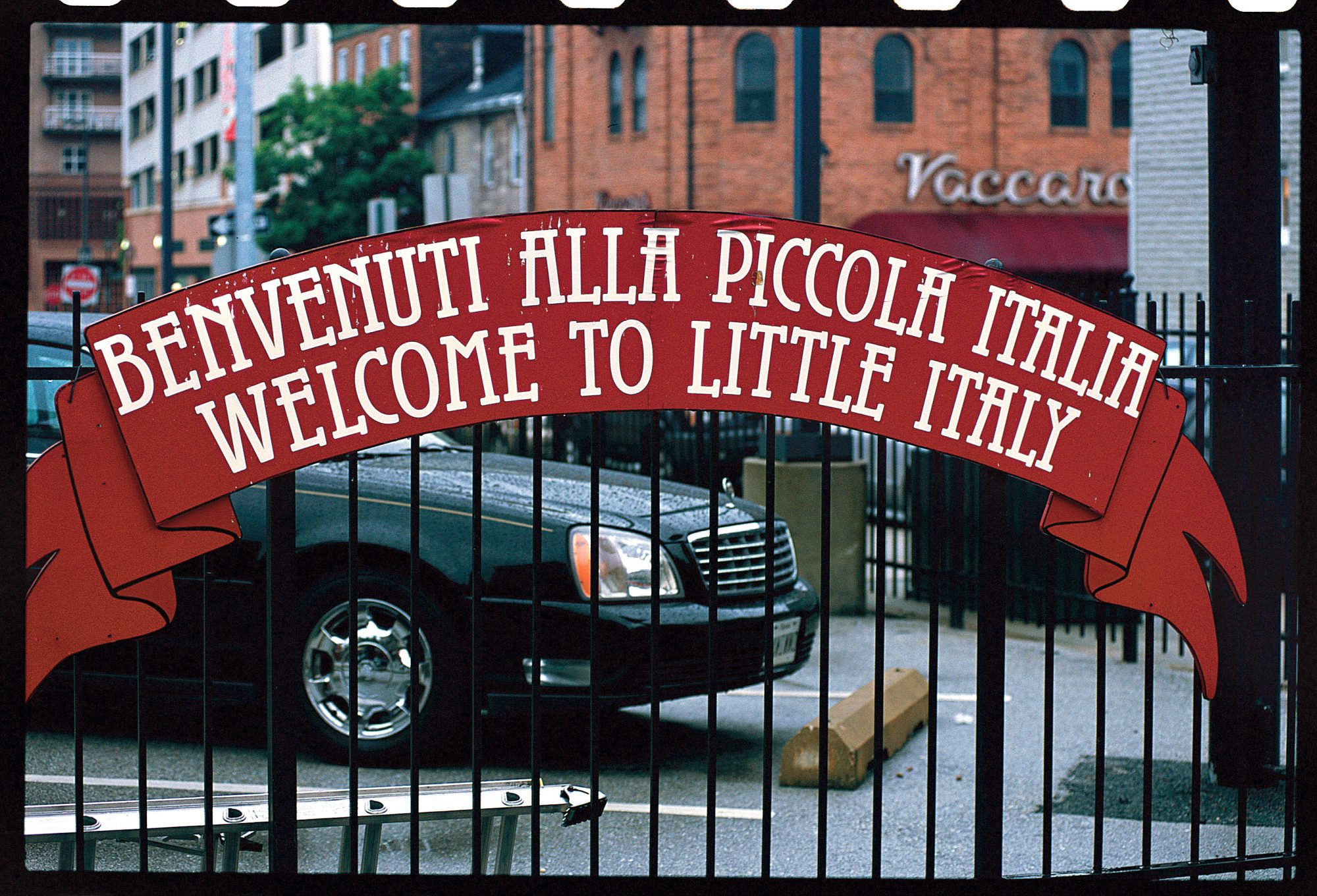 baltimore little italy welcome sign