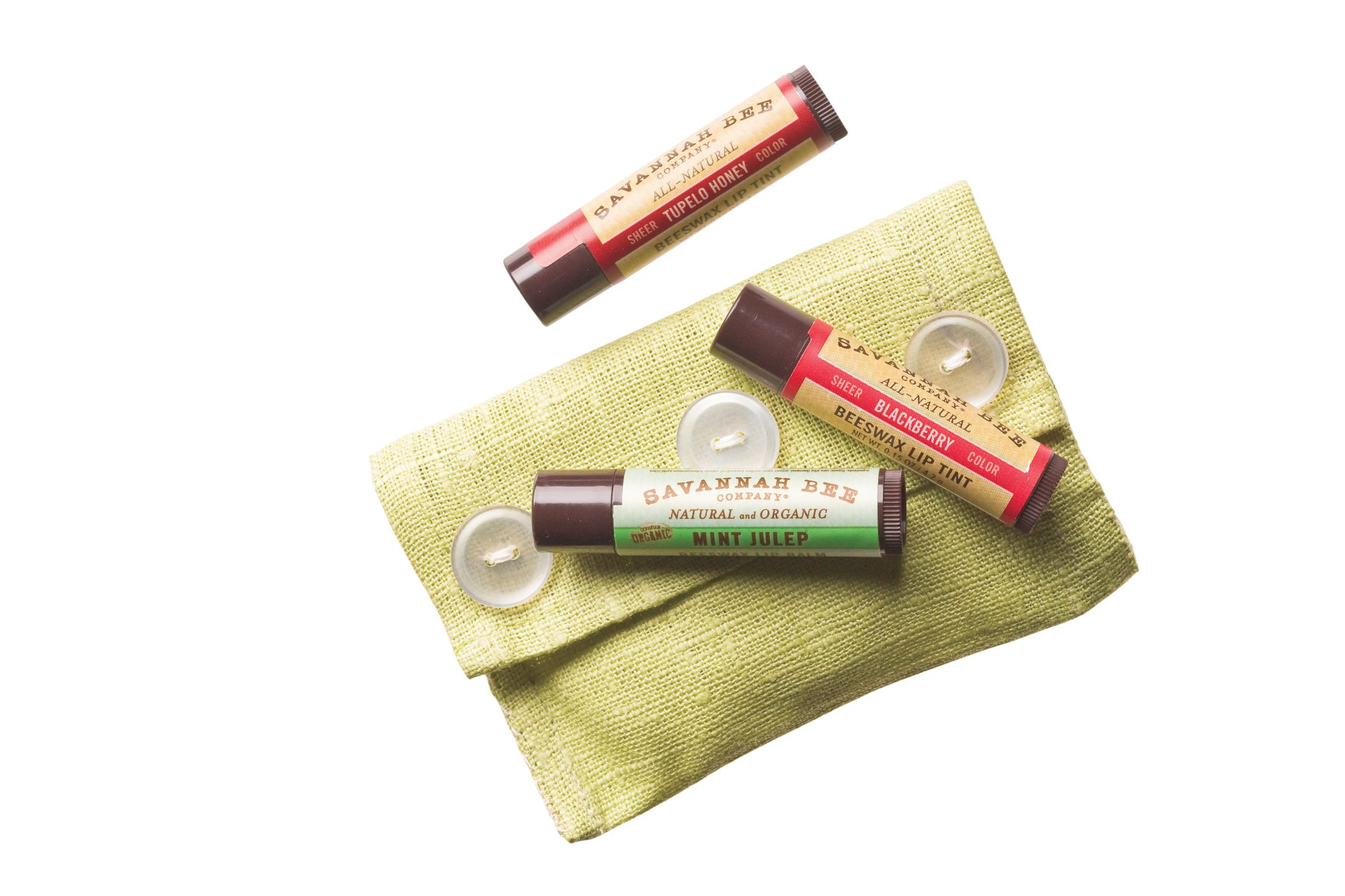 Savannah Bee Lip Balms and Lip Tints