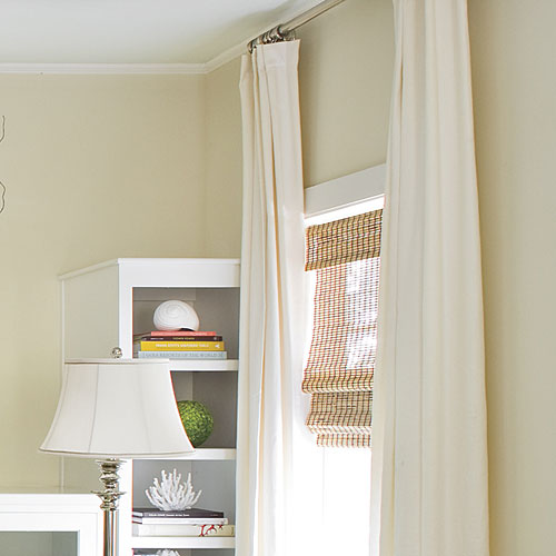 Simple Window Treatments: White Linen Drapes