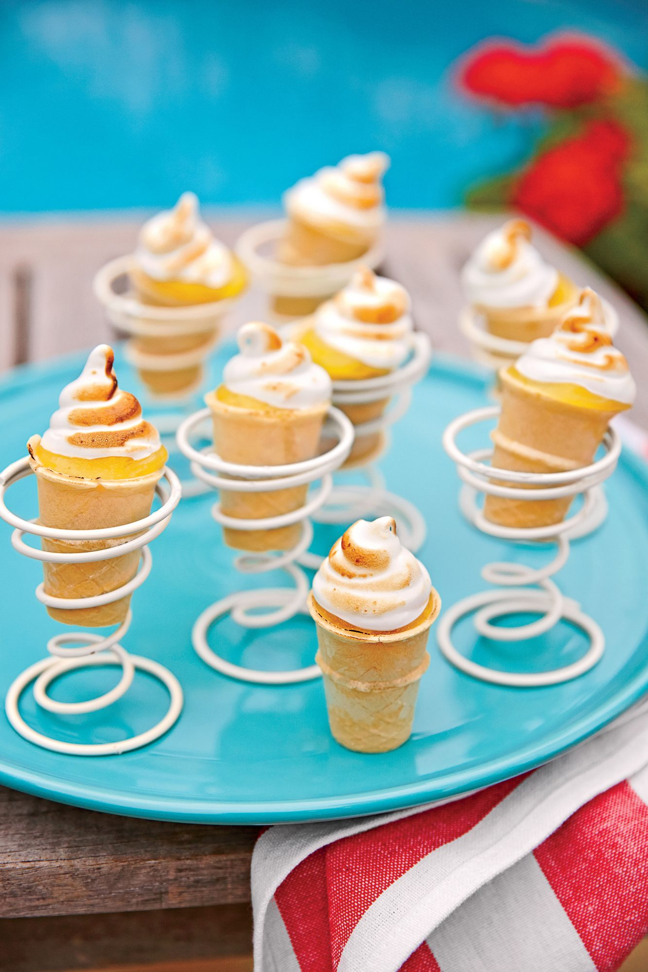 Key Lime Curd Cones