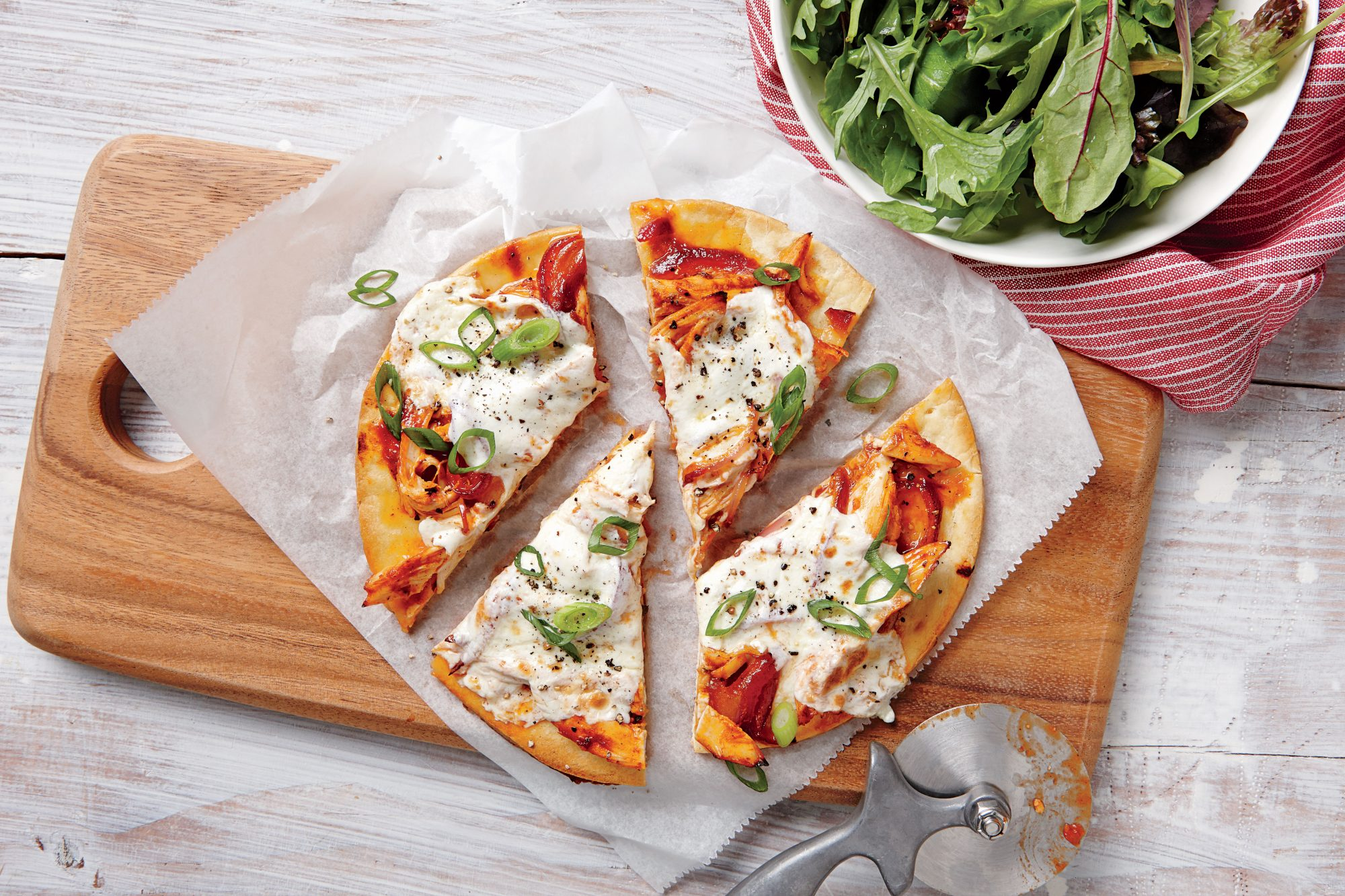 Quick BBQ Chicken Pizzas