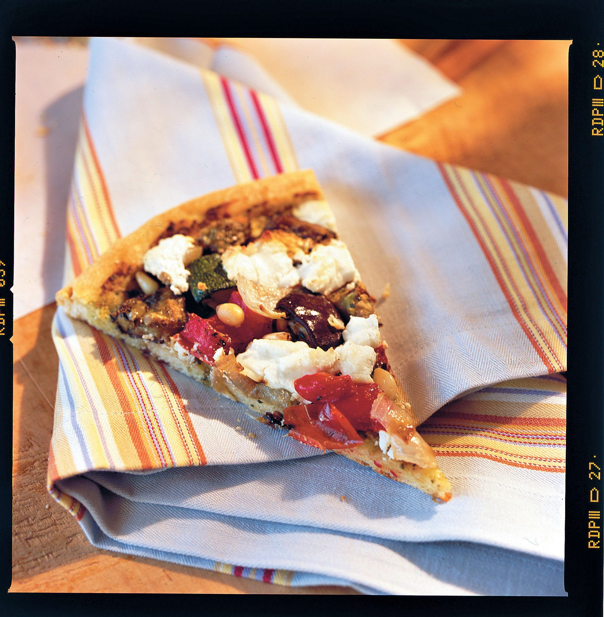 Pizza Recipes: Roasted Vegetable-and-Goat Cheese Pizza