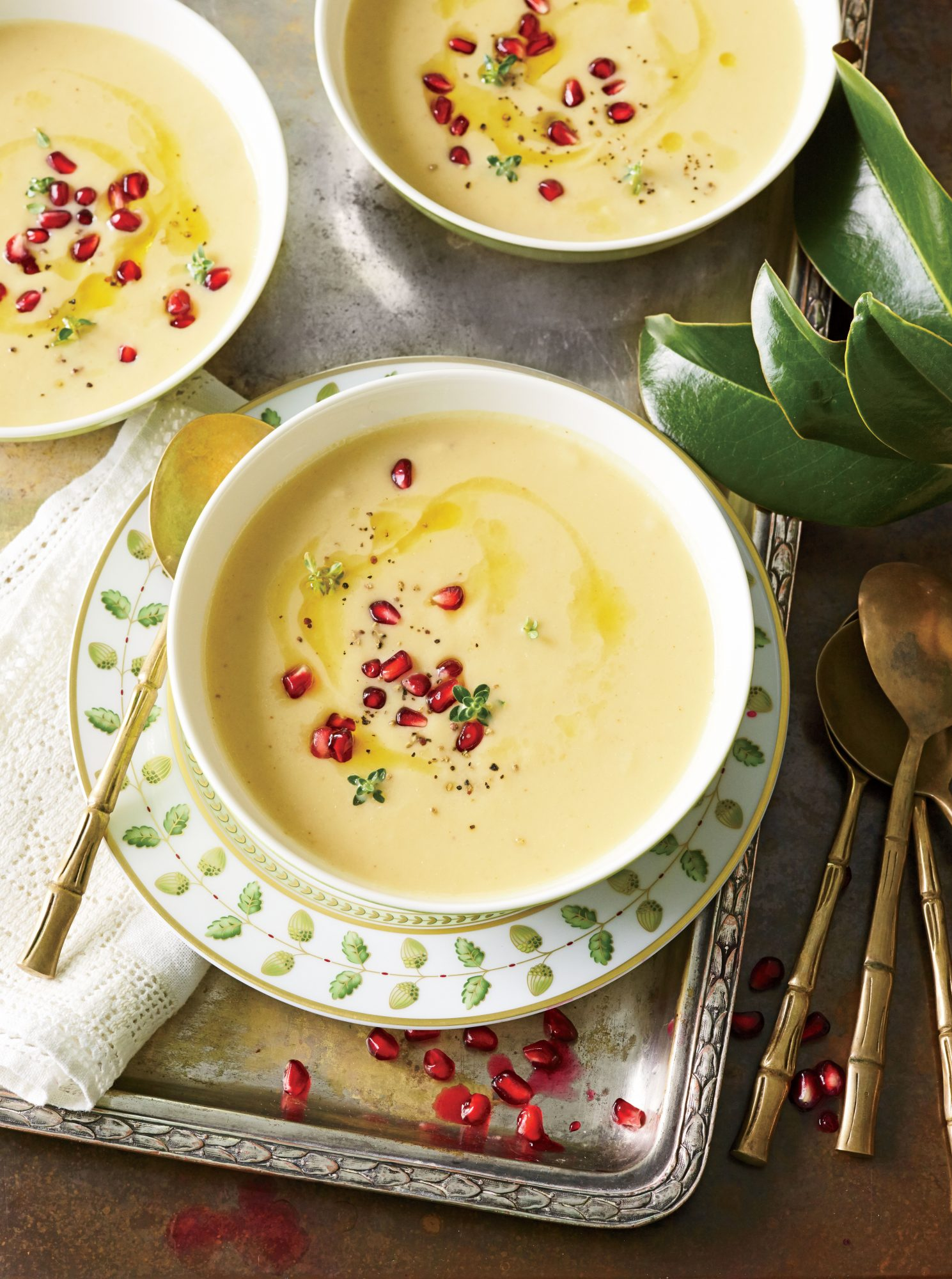 Roasted Cauliflower-and-Garlic Soup
