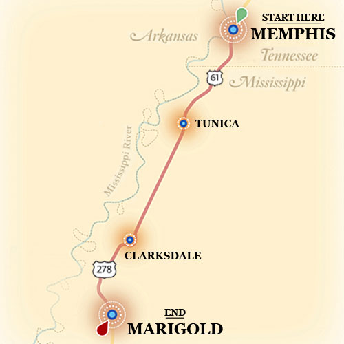 Blues Highway Map