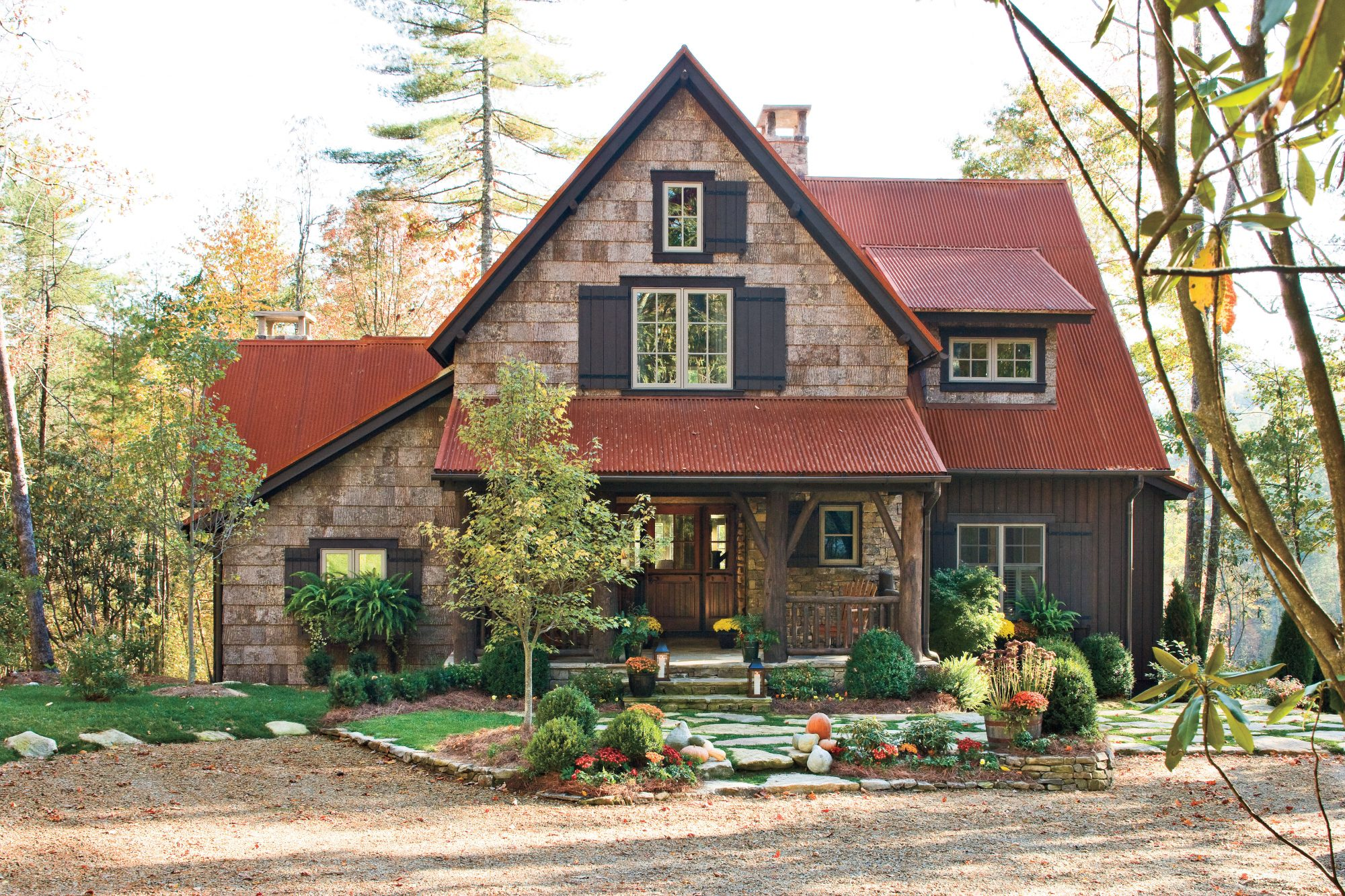 Best New Cottage: Rusted Metal Roof