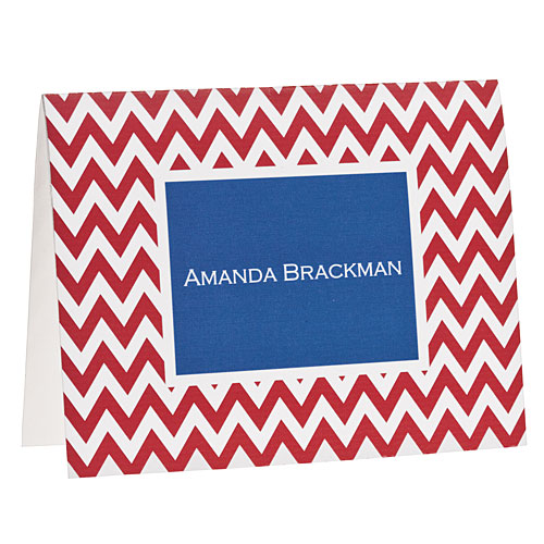 Southern Gift Ideas: Red Chevron Note Cards
