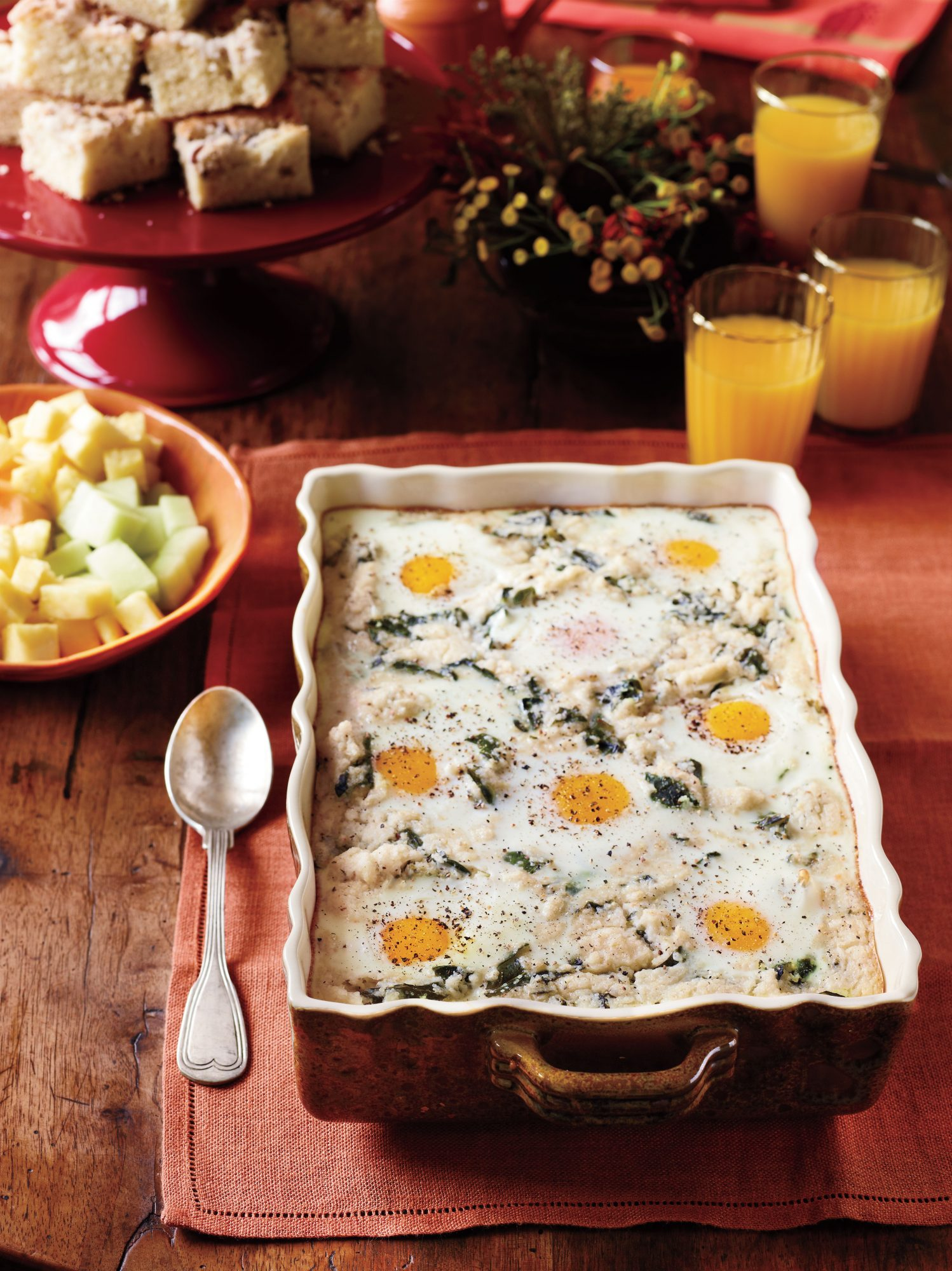 Brunch Recipes: Grits-and-Greens Breakfast Bake