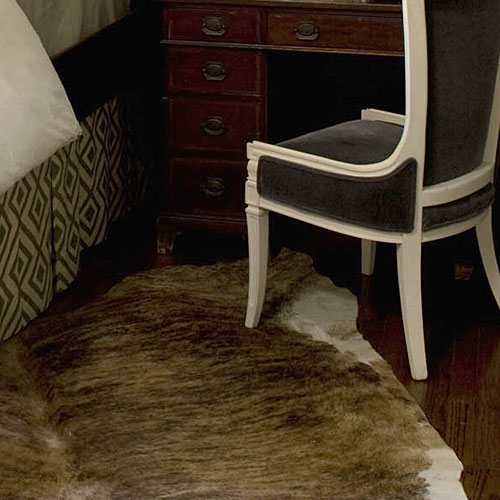 Guest Bedroom Makeovers: Cowhide Rugs