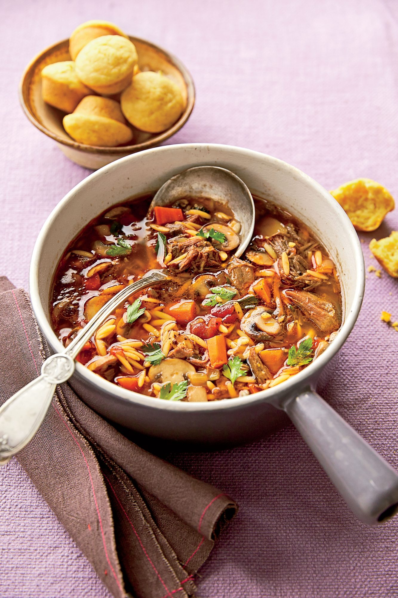 Beef-and-Orzo Soup Recipe