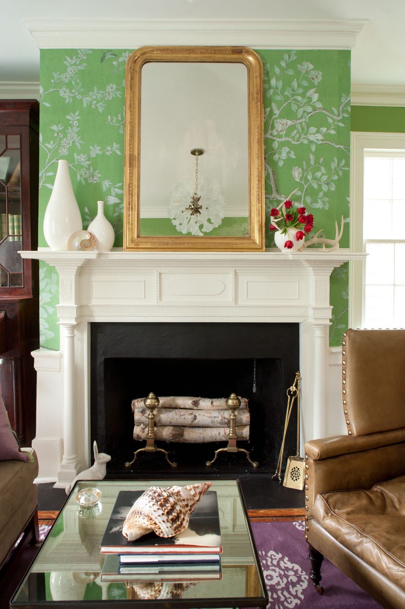 Charleston Living Room with British and European Influences