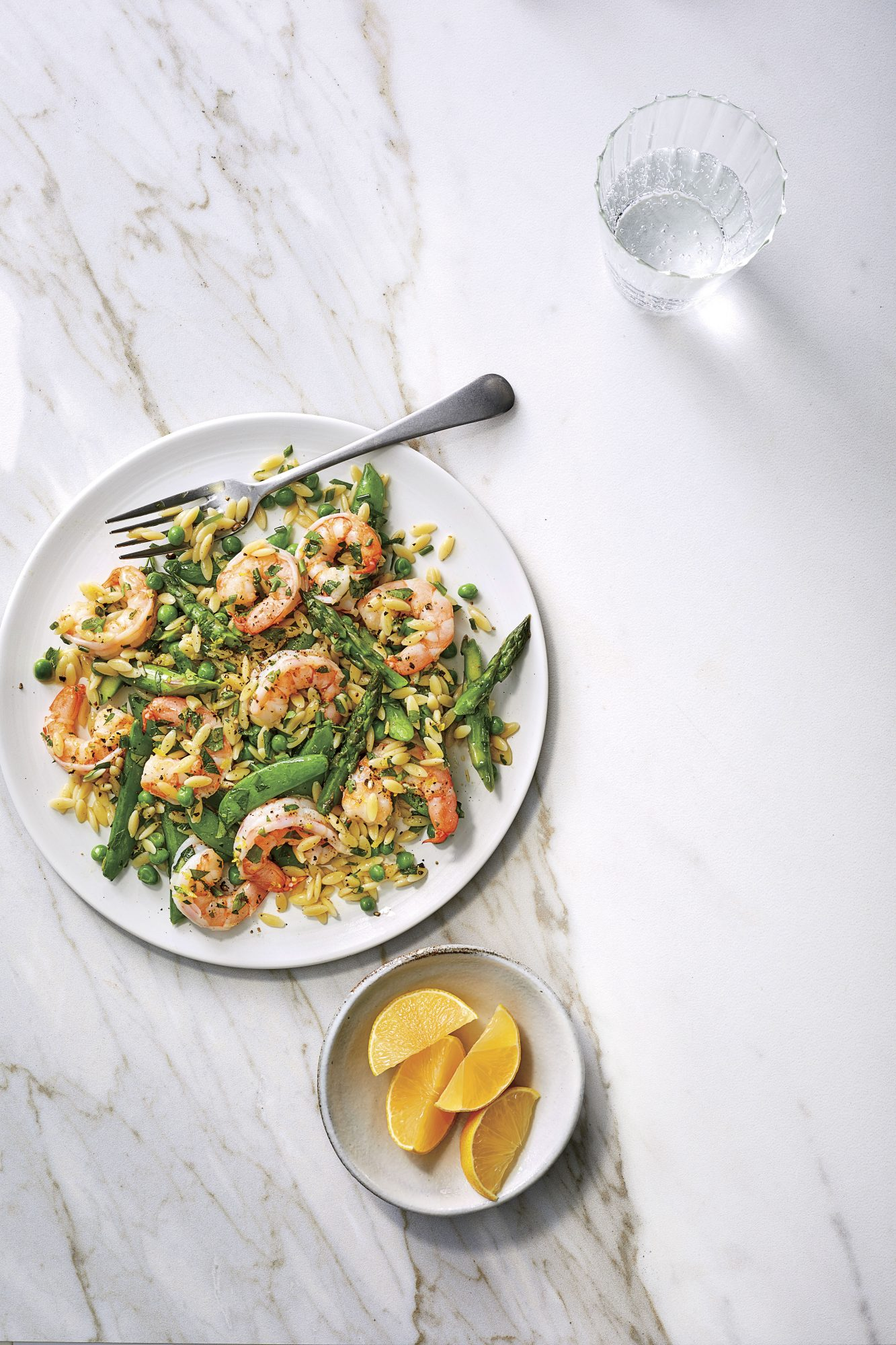 Orzo Salad with Shrimp and Lemon Dressing